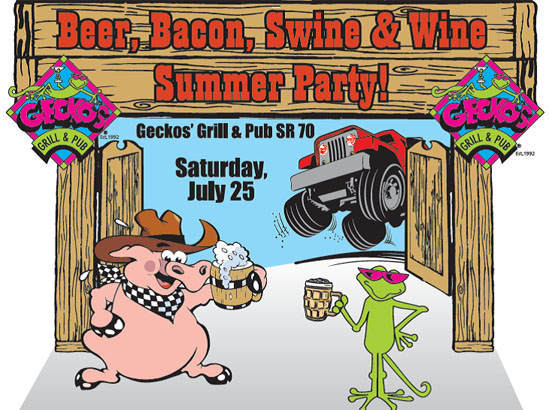 Beer, Bacon, Swine & Wine Summer Party