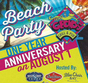 One Year Anniversary Beach Party